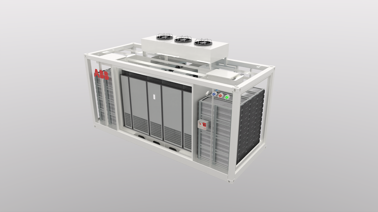 Containerized ESS can be fully serviced from outside the unit for enhanced safety