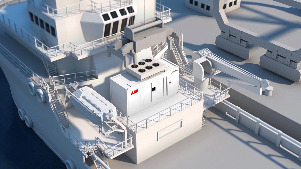 ABBs containerbaserte batterilagringsløsninger leveres i en standard 20 fot container.
