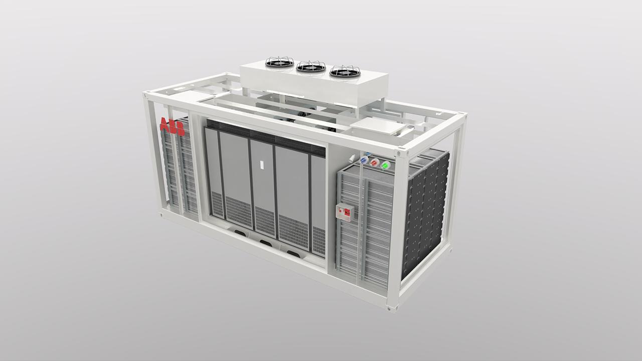 Containerløsningen kan betjenes fra utsiden for ekstra sikkerhet.